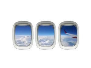 VWAQ Airplane Window Decal Cloud View Peel and Stick Aviation Wall Art Airplanes VWAQ-PPW27