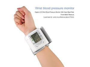 Automatic Wrist Blood Pressure Monitor Digital LCD Display Pulse Rate Meter Wrist Electronic Watch Arm Meter Sphygmomanometer