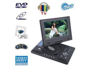 FJD-998 Portable 9-Inch TFT LCD Screen Mobile DVD Player Digital Multimedia Player 270 Degree Rotation Screen EVD