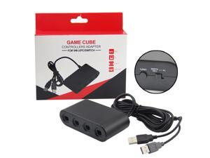 Gamecube Controller Adapter,4 Port Gamecube Controller Adapter for Wii U Nintendo Switch PC USB Easy to Play Super Smas Bros in stock