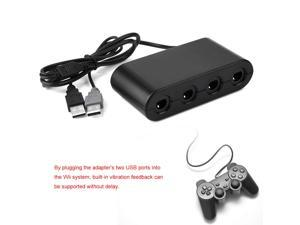 E-NET Gamecube Controller Adapter, 4 Ports for Gamecube Controller USB Adapter Converter for Wii U PC NGC & PC Game Accessory, Support Windows XP, Vista, for Windows 7/8, 32-bit and 64-bit
