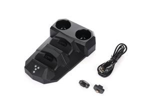 4-in-1 USB Charging Dock With LED Light For PS3 PS4 VR Controllers Holder