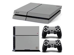 Protective Vinyl Sticker Cover for PS4 Console + 2 Pcs Skin for PS4 Controller