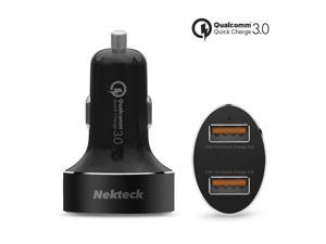 USB Type C Car Charger, Nekteck Dual Quick charge 3.0 36W Dual USB Car Charger Rapid Charging Adapter for Apple and Google Pixel 2/ Pixel/ Pixel XL Samsung Galaxy Note 8/ S8/ S8/S9 Plus and More