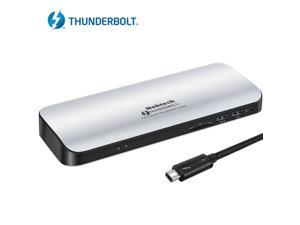 Nekteck Thunderbolt 3 PD Docking Station, Supports 4K HD Display, 60W Power Delivery, 4K HDMI2.0@60Hz, 5 USB 3.0 ports, for MackBook Pro Late 2016/2017 & Specific Windows/macOS