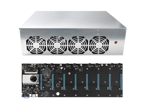 ASPIRING BTC-S37 Complete Mining Rig ETH Miner System for Mining Ethereum Coin with Windows 10 Pro,Mining Motherboard 8GPU Including CPU,SSD, RAM,PSU, Mining Case and Cooling Fans