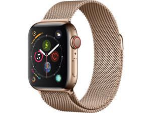 Apple Watch Series 4 (GPS + Cellular), 40mm Gold Stainless Steel Case with Gold Milanese Loop - Gold Stainless Steel - MTUT2LL/A