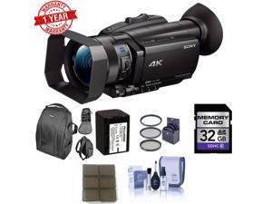 Sony FDR-AX700 4K Camcorder w/ 32GB Memory Card Bundle