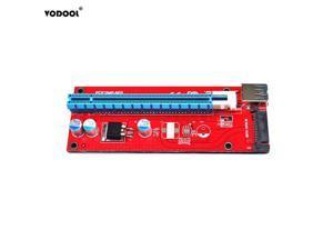 est 007S PCI-E Extender Riser Card USB 3.0 164P PCI-E Express 1x to 16x Extender Riser Card Power 6Pin SATA for Mining