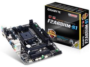 Micro ATX GA-F2A68HM-S1 Socket FM2+ supports AMD FM2+/FM2 A-series APU  2 x DDR3 DIMM sockets supporting up to 64 GB of system memory