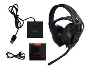 Plantronics RIG 800HD Wireless Gaming Headset for PC Computer and MAC OS with 2.4GHz RF USB Wireless Base, Dolby Atmos for Headphones - Black - 206800-01