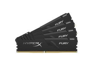 1Rx8/ Black XMP Desktop Memory HX424C15FB3K4//32 Kit of 4 HyperX Fury 32GB 2400MHz DDR4 CL15 DIMM