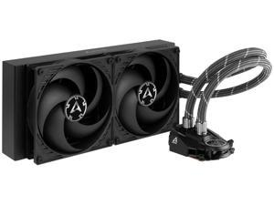 ARCTIC Liquid Freezer II 280 - Multi Compatible All-in-One CPU AIO Water Cooler Compatible with Intel & AMD Efficient PWM Controlled Pump Fan Speed: 200-1700 RPM (Controlled via PWM) - Black