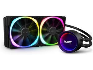 NZXT Kraken X53 RGB 240mm - AIO RGB CPU Liquid Cooler - Rotating Infinity Mirror Design - Improved Pump - Powered By CAM V4 - RGB Connector - RL-KRX53-R1 - Aer RGB V2 120mm Radiator Fans (2 Included)