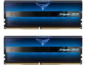 TEAMGROUP T-Force Xtreem ARGB 3600MHz CL14 16GB Kit (2x8GB) PC4-28800 Dual Channel DDR4 DRAM Desktop Gaming Memory Ram (Blue) - TF10D416G3600HC14CDC01