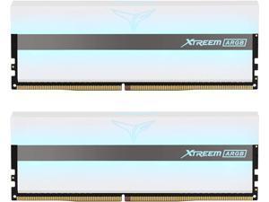 TEAMGROUP T-Force Xtreem ARGB 3200MHz CL14 32GB (2x16GB) PC4-25600 Dual Channel DDR4 DRAM Desktop Gaming Memory Ram (White) - TF13D432G3200HC14BDC01