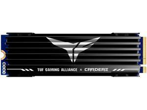 TEAMGROUP T-Force CARDEA II Compatible for TUF Gaming 1TB with DRAM SLC Cache and Gaming Fin Heatsink 3D NAND TLC NVMe Gen3x4 PCIe M.2 2280 Internal SSD Read/Write 3,400/3,000 MB/s TM8FPB001T0C310