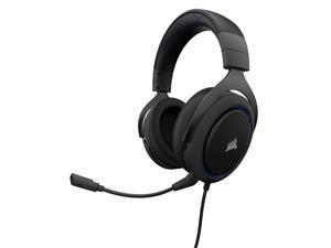 Corsair HS50 - Stereo Gaming Headset - Discord Certified Headphones - Works with PC, Mac, Xbox One, PS4, Nintendo Switch, iOS and Android – Blue