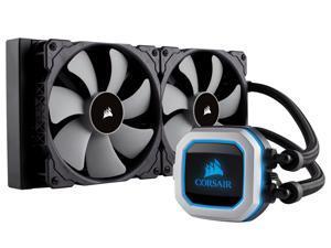 CORSAIR HYDRO Series H115i PRO RGB AIO Liquid CPU Cooler, 280mm Radiator, Dual 140mm ML Series PWM Fans, Advanced RGB Lighting and Fan Software Control, Intel 115x/2066 and AMD AM4 compatible