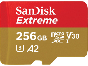 SanDisk 256GB Extreme microSDXC UHS-I/U3 A2 Memory Card with Adapter, Speed Up to 160MB/s