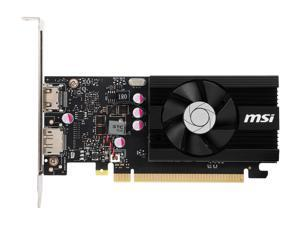 MSI GeForce GT 1030 DirectX 12 2GB 64-Bit DDR4 PCI Express 3.0 x16 (Uses x4) HDCP Ready Low Profile Video Card Model GT 1030 2GD4 LP OC