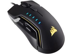 Corsair Gaming GLAIVE RGB Gaming Mouse, Backlit RGB LED, 16000 dpi, Optical, Aluminum
