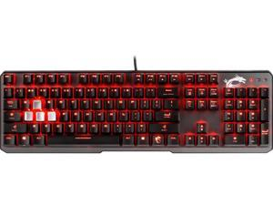 MSI Vigor GK60 Gaming Keyboard with Cherry MX Red Switch and Red Backlight