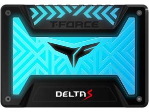 TEAMGROUP T-Force Delta S RGB 250GB 2.5 inch SATA III 3D NAND Internal Solid State Drive SSD(12V) - Black