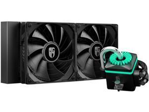 DEEPCOOL Gamer Storm CAPTAIN 240X RGB AIO Liquid CPU Cooler, 240mm Radiator, Anti-Leak Technology Inside, 12V RGB 4-Pin Motherboard Control, TR4/AM4 Compatible
