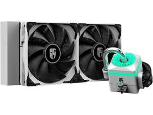 DEEPCOOL Gamer Storm CAPTAIN 240X WHITE, RGB AIO Liquid CPU Cooler, White LED Waterblock, 240mm Radiator, Anti-Leak Technology Inside, 12V RGB 4-Pin Motherboard Control, TR4/AM4 Compatible