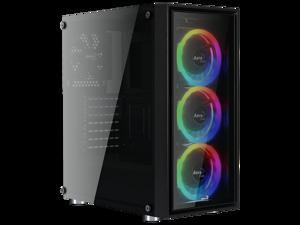 AeroCool Quartz-REVO RGB ready Tempered Glass Mid Tower case