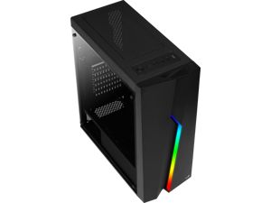 AeroCool Bolt-G Tempered Glass Mid Tower with Front RGB