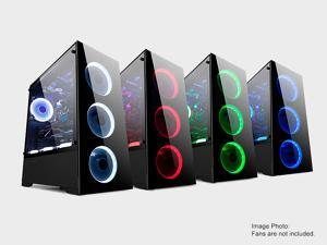 BGears b-Voguish Full Tempered Glass Dual Chamber layout Mid Tower case