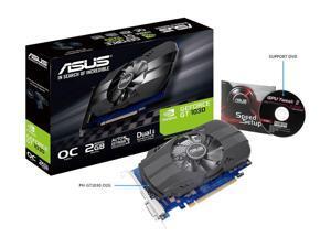 ASUS GeForce GT 1030 2GB Phoenix Fan OC Edition HDMI DVI Graphics Card (PH-GT1030-O2G)