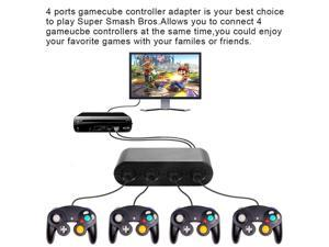 2019 New Gamecube Controller Adapter,4 Port Gamecube Controller Adapter for Wii U Nintendo Switch PC USB Easy to Play Super Smas Bros in stock from Original Factory
