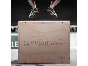 3 in 1 Wood Plyometric Box for Jump Training 20/14/16 Plyo Exercise Strength