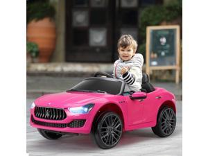 Kids Ride On Car 12V Rechargeable Toy Vehicle w/ MP3 Remote Pink Maserati License