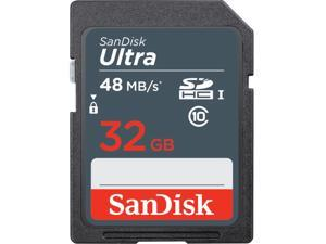 SanDisk 32GB Ultra SDHC UHS-I/Class 10 Memory Card, Speed Up to 48MB/s (SDUNB-032G-G46)