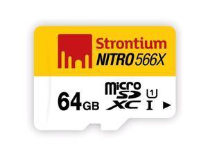 Strontium Nitro 566X 64GB MicroSDXC UHS-1 Memory Card SRN64GTFU1R