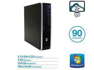 HP Compaq Elite 8000 Ultra Slim: Core2Duo 3.0G / 4G DDR3 RAM / 160G Hard Drive / WIFI / DVDROM / Windows 10 Home