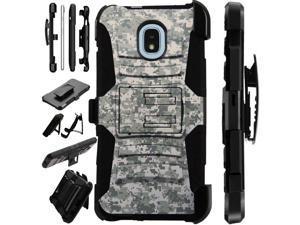 Compatible Samsung Galaxy J2 Core   J2 Shine   J2 Dash   J2 Pure   J2 Pro    J2 (2018) Case Armor Hybrid Phone Cover LuxGuard Holster (British Flag