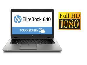 "HP Laptop 840 G2 14"" Touch Screen Full HD Intel Core i5 5th Gen 5300U (2.30 GHz) 8GB Memory 256GB SSD - Windows 10 Professional"