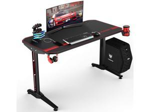 Vitesse 47 inch Gaming Desk Racing Style Computer Desk with Free Mouse pad, T-Shaped Professional Gamer Game Station