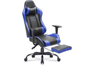 Vitesse Gaming Chair with Footrest Racing Style Computer Office Chair Adjustable Swivel Ergonomic PC Desk Bucket Seat Chair with Lumbar Support and Headrest