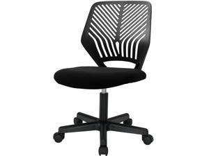 Vitesse Office Chair Armless Desk Chair Mesh Computer Chair Task Chair with Back Support Swivel Rolling Executive Chair for Back Pain,Black