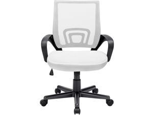 Vitesse Office Chair Mesh Desk Chair Ergonomic Computer Chair with Lumbar Support Modern Executive Adjustable Chair Rolling Swivel Chairs for Women Men,White