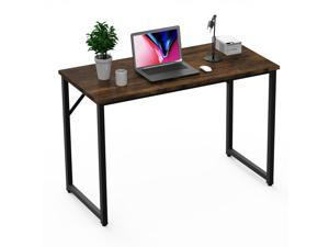"""Vitesse Computer Desk Table 39"""" Study Writing Table for Home Office,Modern Sturdy Office Desk for Small Spaces,Black and Brown"""