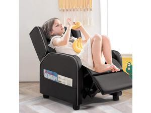 Vitesse Kids Gaming Recliner Youth PU Leather Armchair Ergonomic Racing Game Sofa for Children Boys Girls with Footrest and Padded Backrest Lightweight Sofa Chair