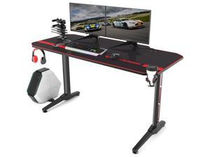 "Vitesse 55"" T Shaped Computer Gaming Desk with Free Large Mouse Pad"