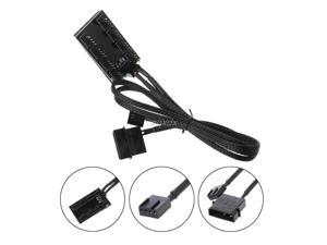 1 To 8 4-Pin Molex TX4 PWM CPU Cooling Fan Splitter Adapter Braided Power Cable Whosale&Dropship